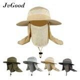 ส่วนลด Jvgood Fashion Summer Outdoor Sun Protection Fishing Farmer Gardener Cap Neck Face Flap Hat Wide Brim Intl จีน