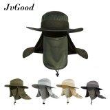 ขาย Jvgood Fashion Summer Outdoor Sun Protection Fishing Farmer Gardener Cap Neck Face Flap Hat Wide Brim Intl ถูก