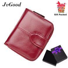 ราคา Jvgood Oil Wax Pu Leather Women Short Wallets Zipper Small Wallet Coin Pocket Credit Card Holder Handbag Female Purse Money Clip Intl ใหม่ ถูก
