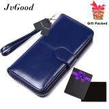 ซื้อ Jvgood Women Wallet Dollar Price Lady Party Pu Leather Purse Wallet Female Wax Oil Skin Long Zipper Wallet Bills Cion Purse ใน จีน