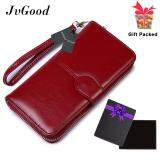 ขาย Jvgood Women Wallet Dollar Price Lady Party Pu Leather Purse Wallet Female Wax Oil Skin Long Zipper Wallet Bills Cion Purse ออนไลน์ ใน จีน