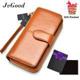ขาย Jvgood Women Wallet Dollar Price Lady Party Pu Leather Purse Wallet Female Wax Oil Skin Long Zipper Wallet Bills Cion Purse จีน