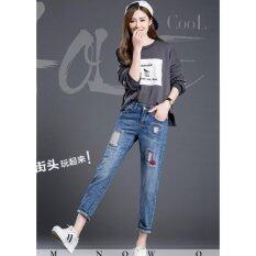ราคา Jw5912007กางเกงยีนส์สาวเซอร์ 7 ส่วน ย้อนยุคครอปสาวเกาหลี พร้อมส่ง Korea กรุงเทพมหานคร