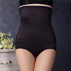 โปรโมชั่น กางเกงชั้นในผู้หญิง เอวสูง หยืดหยุ่นสูง สวมใส่สบาย สีดำ 1 ตัว Thailand