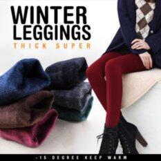 โปรโมชั่น กางเกงเลกกิ้ง Women Winter Leggings 15 Degree สีแดงไวน์ ใน กรุงเทพมหานคร