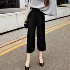 ราคา กางเกงพลีทอัดกลีบ 5 ส่วน สีดำ ที่สุด