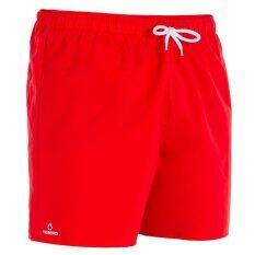 ส่วนลด กางเกงว่ายน้ำขาสั้นสำหรับผู้ชาย Hendaia สีแดง Travelsports ใน กรุงเทพมหานคร