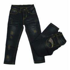 ขาย กางเกงยีนส์เด็กชาย ทรงขาเดฟเข้ารูป 4 10 ขวบ 9129 ใหม่