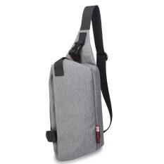 Kaka กระเป๋าคาดอก Korean Style รุ่น 99002 สีเทา ใหม่ล่าสุด