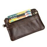 โปรโมชั่น Kevin Yun Vintage Genuine Leather Men Coin Purse Small Pocket Wallet Coffee ใน จีน
