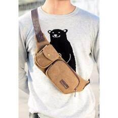 กระเป๋าคาดเอว ผู้ชาย กระเป๋าสะพายข้าง แฟชั่น Khaki ถูก