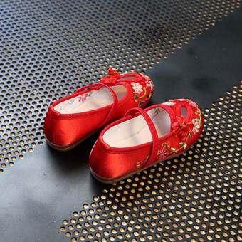 เด็กสบายๆรองเท้าผ้าทำด้วยมือดอกไม้เย็บปักถักร้อย - นานาชาติรองเท้ารองเท้าแฟชั่นรองเท้ารัดส้น