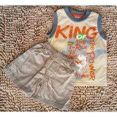 Kids cent ชุดเด็กชายแขนสั้นขาสั้น