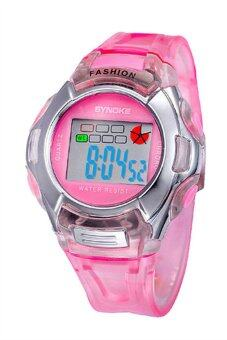 Kids Digital LED Sports Wrist Watch - Pink