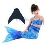 ราคา Kids Girls Swimmable Mermaid ชุดนางเงือก ชุดว่ายน้ำเด็กผู้หญิง หางนางเงือก รุ่น Super Dot ตีนกบ สีฟ้าเข้ม ออนไลน์ กรุงเทพมหานคร