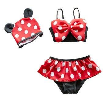 Kids Little Girls Bikini Swimwear Children Girl Swimsuit Swimming Wear Bathing Suit - Red