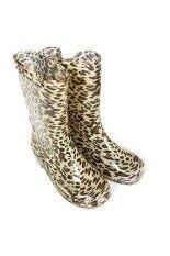 Kidzykids รองเท้าบูทยางแฟชั่นกันน้ำลายเสือ สีน้ำตาล เป็นต้นฉบับ