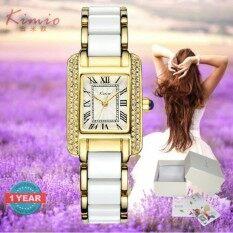 ซื้อ Kimio นาฬิกาข้อมือผู้หญิง แท้ 100 สาย Alloy ประดับเพชรหรูหราสไตส์อิตาลี่ รุ่น Kw6036 พร้อมกล่องนาฬิกา Kimio ออนไลน์ ถูก