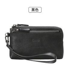 ขาย Kimo กระเป๋าสตางค์สตรีใบสั้นมีซิปแบบเรียบง่าย สีดำ Kimo เป็นต้นฉบับ