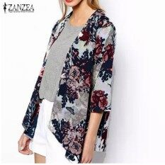 ทบทวน ผู้หญิงแก้ผ้าชีฟองลายดอก Kimono เสื้อ Intl Zanzea