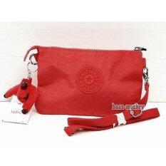 ราคา Kipling ของแท้เบลเยี่ยม กระเป๋าสะพาย Kipling Creativity X Cardinal Red เป็นต้นฉบับ