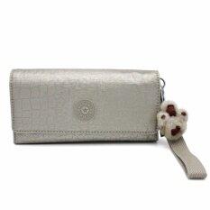 Kipling กระเป๋าสตางค์คล้องแขน No.ac8151 279 Silver Beige Snake Rubl Gm.