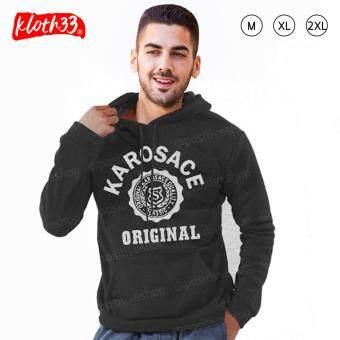 Kloth33เสื้อฮู้ด เสื้อแฟชั่นผู้ชาย เสื้อแขนยาว เสื้อยืด เสื้อกันหนาว เสื้อกันหนาวแบบมีฮู้ด Hooded Sweatshirt สกรีนลาย KAROSACE (ฺDarkGrey/สีเทาเข้ม)