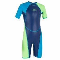 ชุดว่ายน้ำขาสั้น ชุดว่ายน้ำเด็ก ชุดว่ายน้ำ สำหรับเด็กผู้ชายรุ่น Kloupi (สีฟ้า/เขียว) By My Sun Shop.