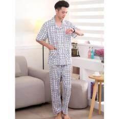ขาย ซื้อ ออนไลน์ ชุดนอนชาย Knitted Cotton Summer รหัส 03