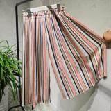 ส่วนลด กางเกงกระโปรงอัดพลีทเกาหลี กางเกงทำงาน Korea สีชมพู
