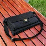 ขาย ซื้อ Korea กระเป๋าสะพายข้าง5ชั้น ผู้หญิง ผ้ากันน้ำ รุ่น G099 18 สีดำ