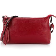 ขาย Korea กระเป๋าผู้หญิง กระเป๋าสะพายกระเป๋าถือหนังแท้ รุ่นA004 5 1 สีแดง Korea เป็นต้นฉบับ