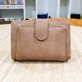 ซื้อ Korea กระเป๋าสตางค์ผู้หญิงใบสั้นทรงตั้ง รุ่น B018 8 สีครีม Thailand