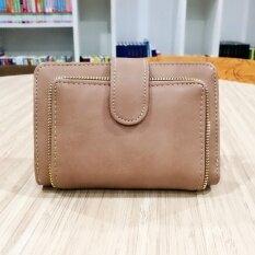 ราคา Korea กระเป๋าสตางค์ผู้หญิงใบสั้นทรงตั้ง รุ่น B018 8 สีครีม Korea ออนไลน์