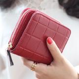 ซื้อ Korea กระเป๋าสตางค์ ผู้หญิง ใบสั้นมีช่องใส่เหรียญ หนัง รุ่น B099 9 F สีแดงอัดลาย Korea
