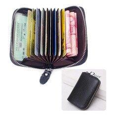 ขาย Korea Best Style กระเป๋าใส่บัตรใส่เงินสไตล์ใหม่ หนังแท้ ใส่บัตรได้20 รุ่นB011 30C สีดำ Korea Best Style ออนไลน์