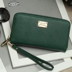 โปรโมชั่น Korea Best Style กระเป๋าถือกระเป๋าสตางค์หนังใบยาว รุ่น B00ุ6 Sa 1 สีเขียว ใน ไทย