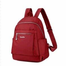 ราคา Korea Best Style กระเป๋าสะพาหลัง ผู้หญิง ผ้ากันน้ำ สไตล์เกาหลี รุ่น D003 1D สีแดง Korea Best Style ใหม่