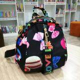ขาย Korea Best Style กระเป๋าเป้สะพายหลัง สะพายข้าง ผู้หญิง ผ้ากันน้ำ รุ่น G055 6 3 สีดำมีลาย ไทย ถูก