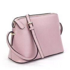 ราคา Korea Eliminsa กระเป๋าสะพายหนังแท้ แฟชั่นเกาหลี รุ่น A803 1 สีม่วงอ่อน ถูก