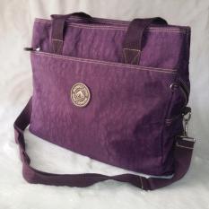 ราคา Korea กระเป๋าสะพายไหล่ สะพายข้างผ้ากันน้ำ รุ่น G008 9 1 สีม่วง Korea