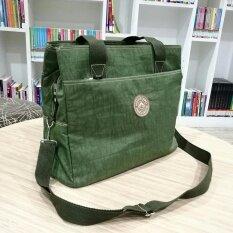 ส่วนลด สินค้า Korea กระเป๋าสะพายไหล่ สะพายข้างผ้ากันน้ำ รุ่น G008 9 4 สีเขียวขี้ม้า