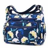 ซื้อ Korea Jielshi กระเป๋าเป้สะพายข้าง ผู้หญิง ผ้ากันน้ำ รุ่น G012 9 G สีน้ำเงินลายดอก Korea เป็นต้นฉบับ