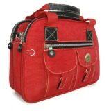 Korea กระเป๋าสะพายแบบมีหูหิ้วแฟชั่นสไตล์เกาหลี ผ้ากันน้ำ รุ่นG022 2 สีแดง เป็นต้นฉบับ