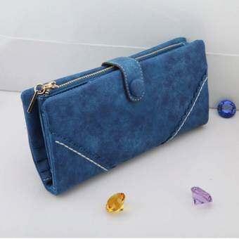 Korea กระเป๋าสตางค์ใบยาวรุ่น B099-9-4(สีน้ำเงิน)