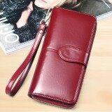 ราคา Korea กระเป๋าสตางค์ใบยาว กระเป๋าเงินผู้หญิง กระเป๋าสตางค์ ผู้หญิง รุ่น N0 88 สีแดง ใหม่
