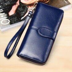 ขาย Korea กระเป๋าสตางค์ใบยาว กระเป๋าเงินผู้หญิง กระเป๋าสตางค์ ผู้หญิง รุ่น N0 88 สีน้ำเงิน Fashion Style ถูก
