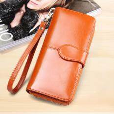 ราคา ราคาถูกที่สุด Korea กระเป๋าสตางค์ใบยาว กระเป๋าเงินผู้หญิง กระเป๋าสตางค์ ผู้หญิง รุ่น N0 88 สีน้ำตาล