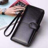 ส่วนลด Korea กระเป๋าสตางค์ใบยาว กระเป๋าเงินผู้หญิง กระเป๋าสตางค์ ผู้หญิง รุ่น N0 88 สีดำ
