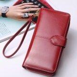 Korea กระเป๋าสตางค์ใบยาว กระเป๋าเงินผู้หญิง กระเป๋าสตางค์ ผู้หญิง รุ่น N0 88 สีแดง เป็นต้นฉบับ